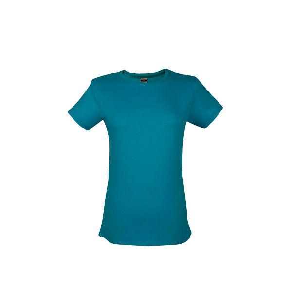 T-shirt personnalisé pour femme Ankara women couleur turquoise