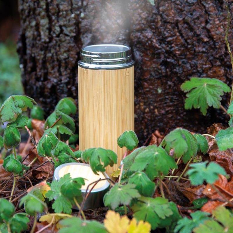 Bouteille isotherme en bambou Ecox - Goodies entreprise