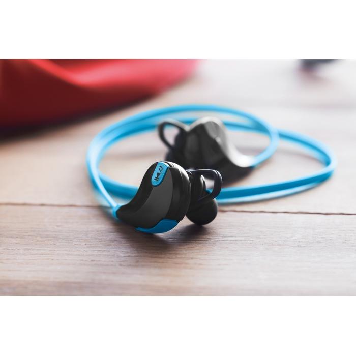 Cadeau d'entreprise - Écouteurs publicitaires Bluetooth Rockstep - bleu