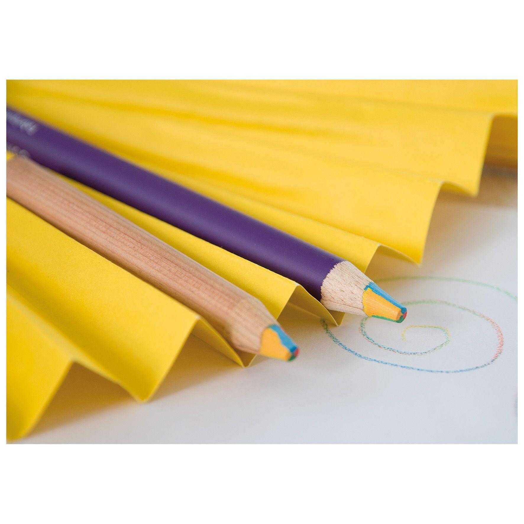 goodies original - crayon publicitaire en bois mine 4 couleurs Eco pantone