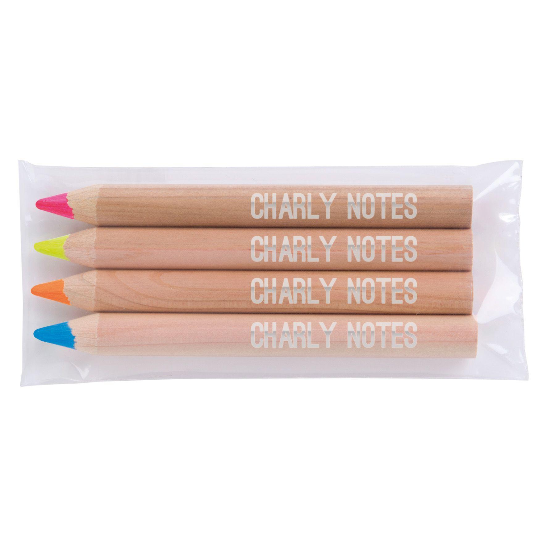 crayon publicitaire écolo - Surligneurs publicitaires naturel fluo L 8,5
