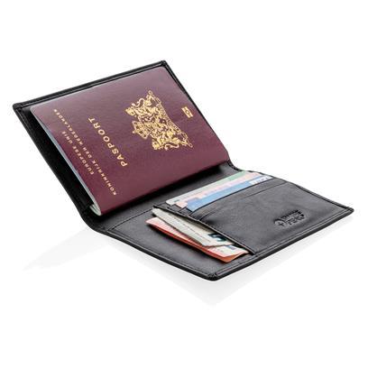 Cadeau d'entreprise - Porte-passeport publicitaire RFID Swiss Peak
