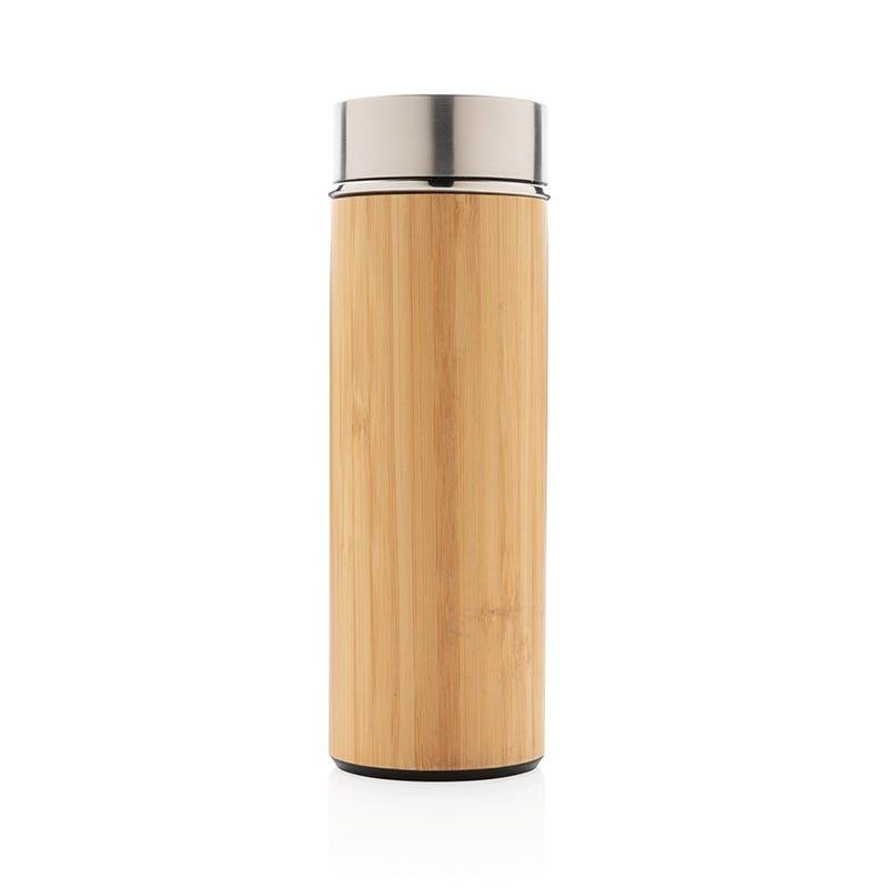 Cadeau promotionnel - Bouteille isotherme en bambou Ecox
