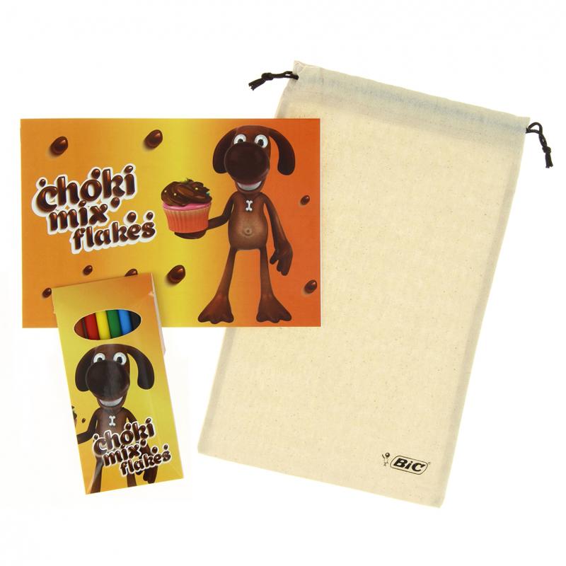 Cadeau publicitaire - Set crayons de couleur publicitaires Bic® Plastidecor® Colouring