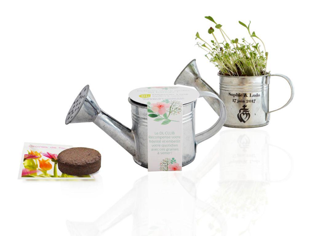 Arrosoir à graines en zinc - cadeau publicitaire écologique