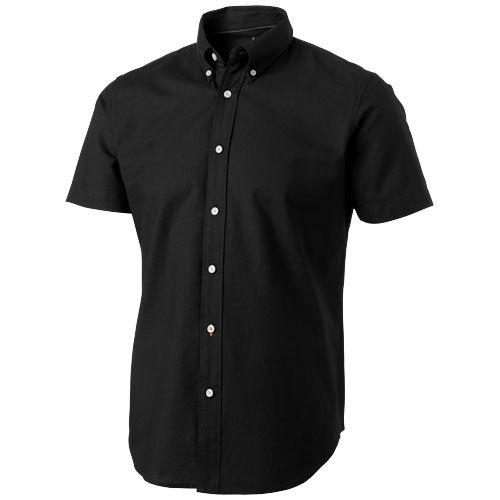 Chemise noire avec manches courtes