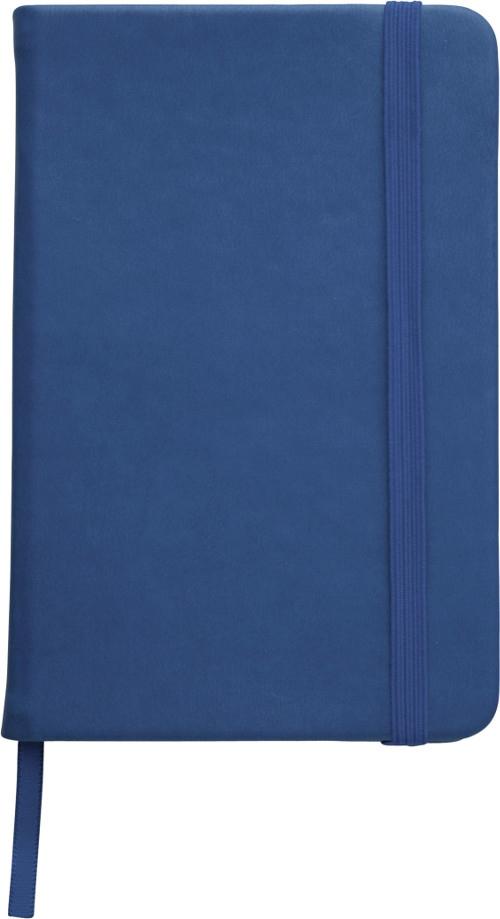 Carnet publicitaire A6 Focus Colour bleu - carnet promotionnel