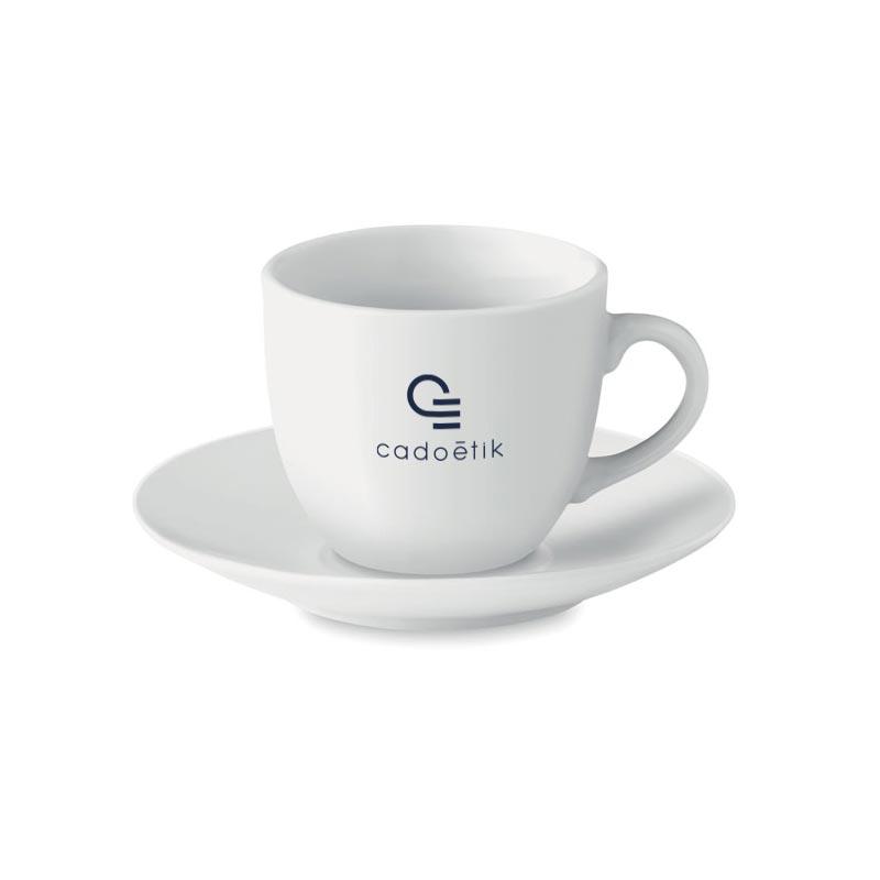 Tasse publicitaire porcelaine blanche Espresso - cadeau publicitaire