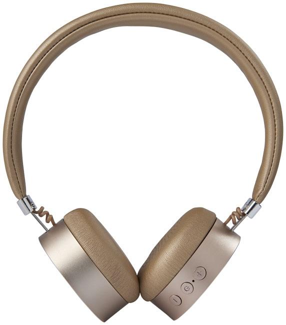 Cadeau d'entreprise - Casque Bluetooth® publicitaire métal Millenial - doré