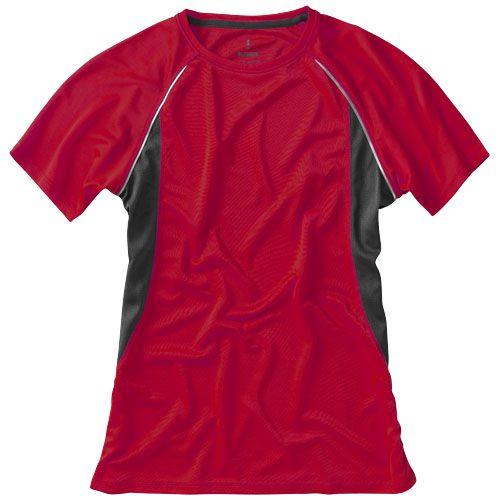 Tshirt rouge et noir personnalisable pour femme