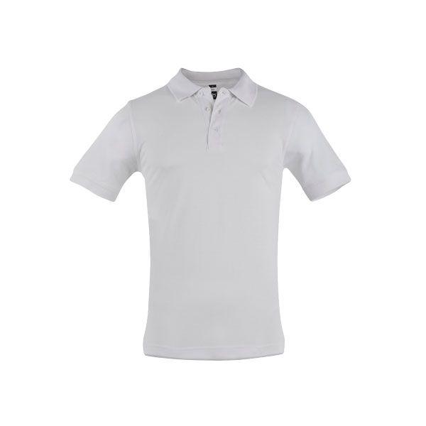 Polo personnalisé pour homme Adam blanc - textile publicitaire