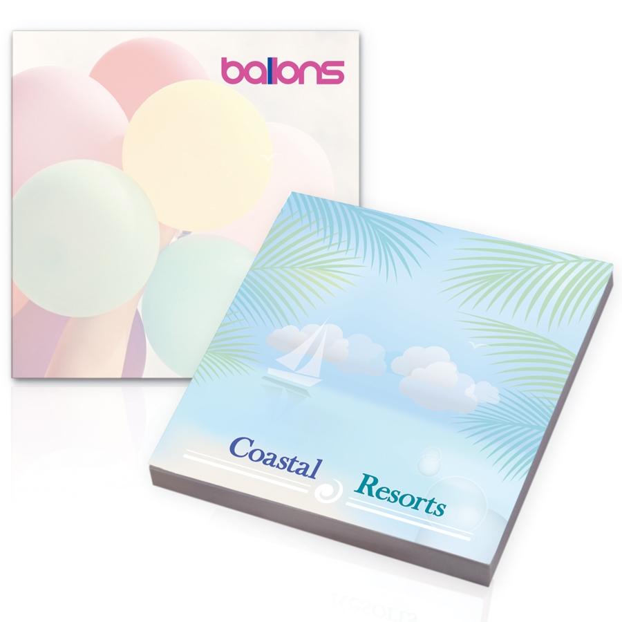 Bloc notes publicitaire écologique BIC® 25 feuilles de papier recyclé 75 x 75 mm