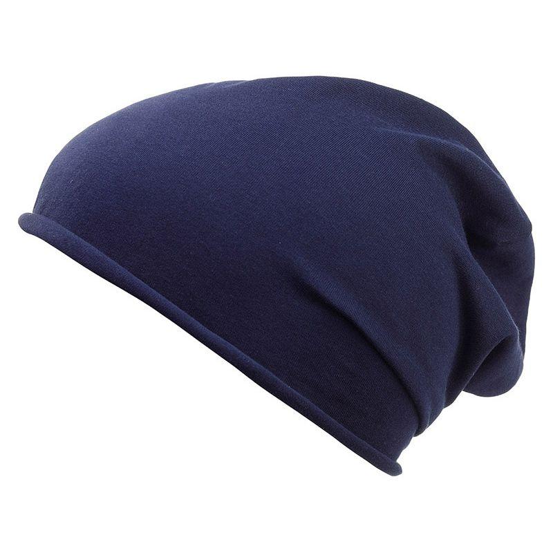 Bonnet personnalisable tricot John - Textile publicitaire - marine