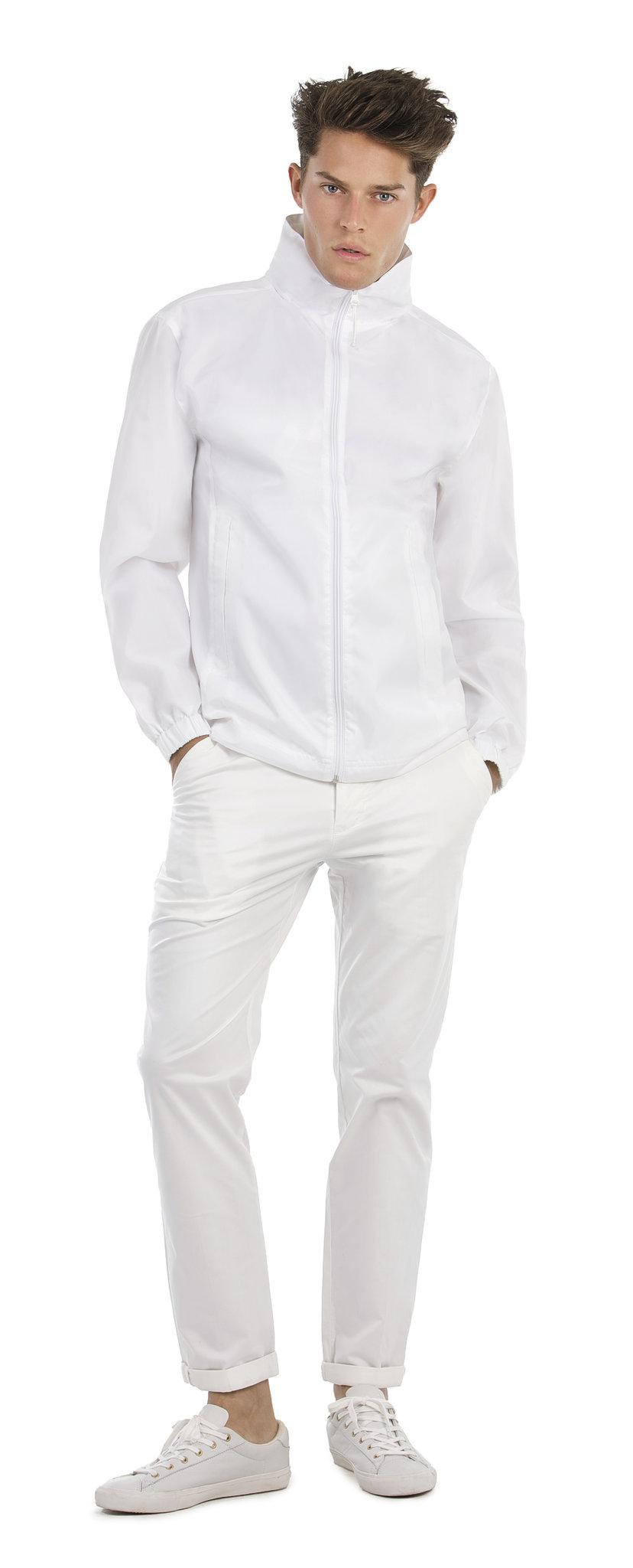 Coupe-vent publicitaire Knit blanc - coupe-vent personnalisable