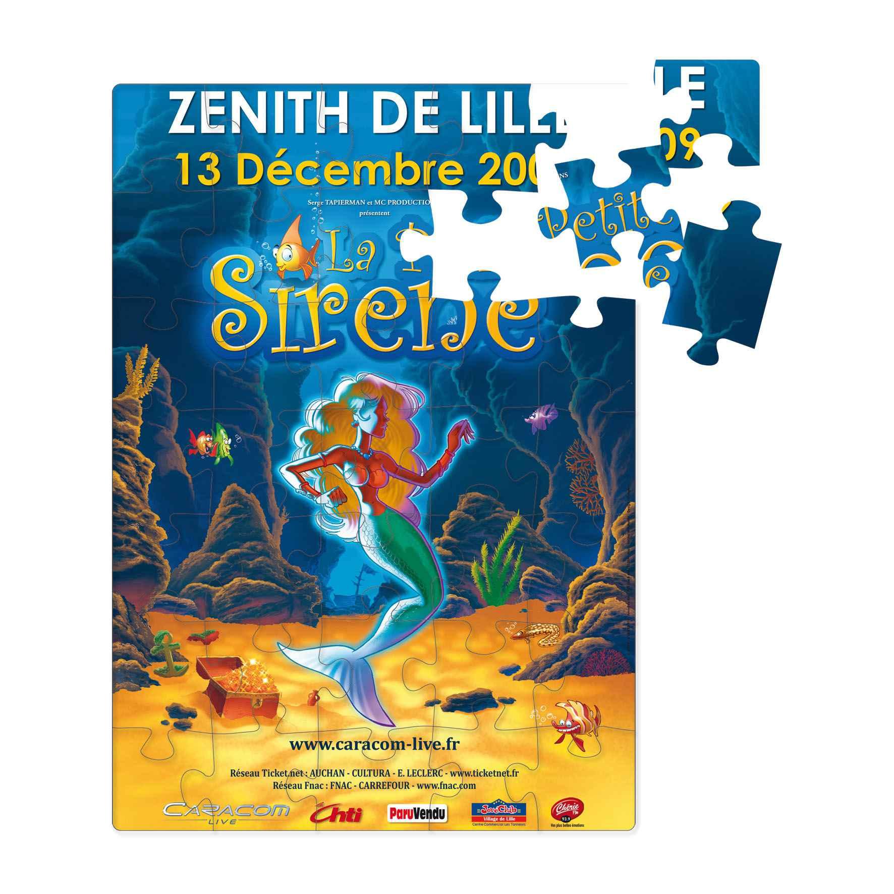 Puzzle magnétique personnalisable - 20,5 X 29,2cm Tanagrame - Cadeau publicitaire