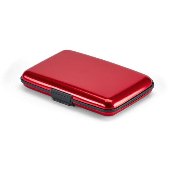 Porte-cartes promotionel Case rouge - porte-cartes publicitaire