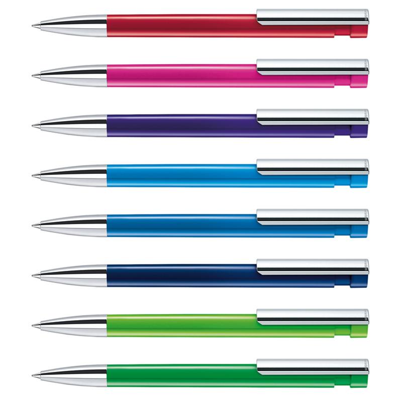 Stylo bille publicitaire Liberty Polished clip métal pointe métallisée - stylo bille personnalisable