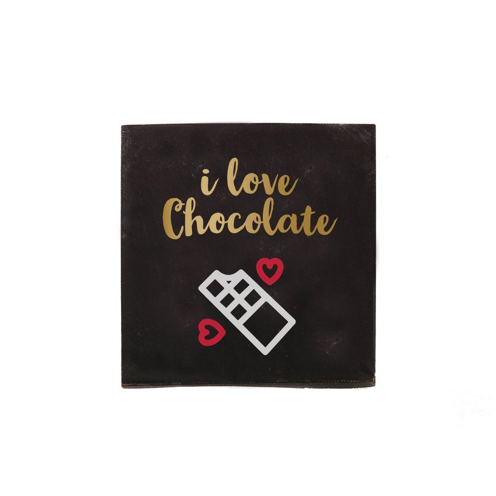 Tablette de chocolat carrée personnalisable - Chocolat à personnaliser