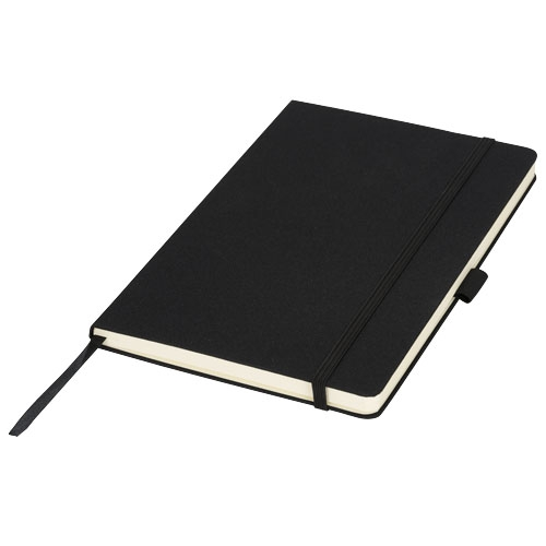 cadeau client - carnet publicitaire A5 Midi couverture tissu noir