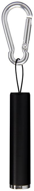 Lampe de poche publicitaire avec mousqueton Ostra noire