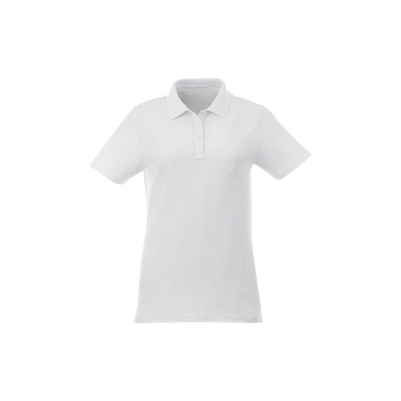 Polo blanc publicitaire pour femmes Liberty - textile personnalisable