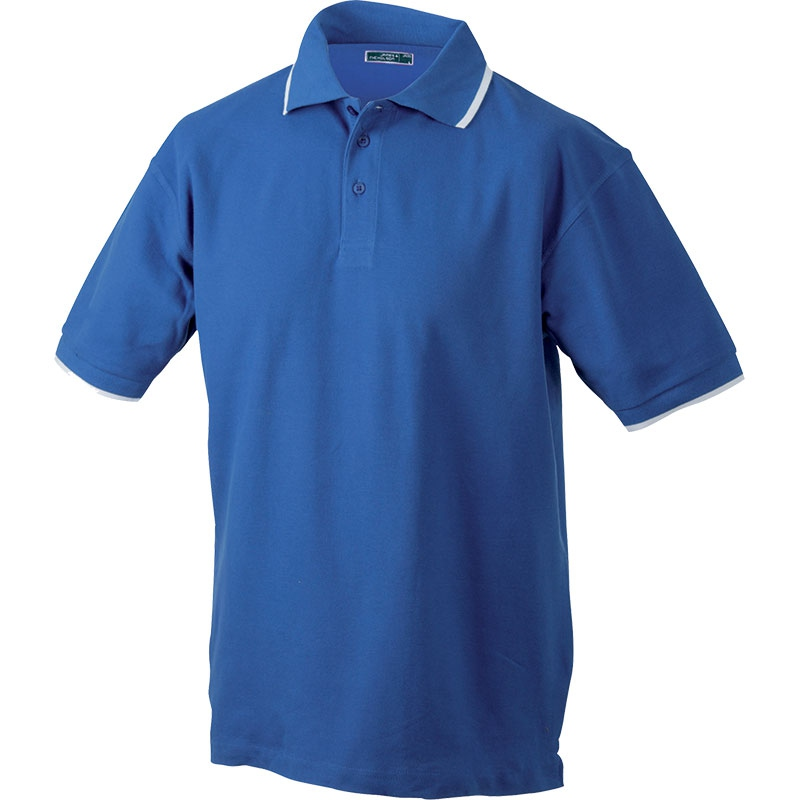 Polo personnalisable homme Chelem marine/blanc - polo promotionnel