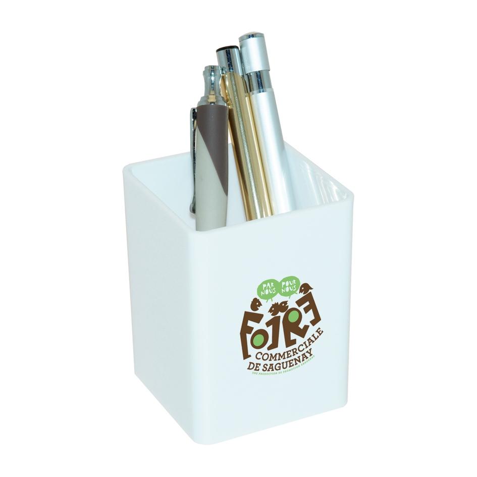 Pot à crayons publicitaire Galapagos - pot à crayons personnalisable