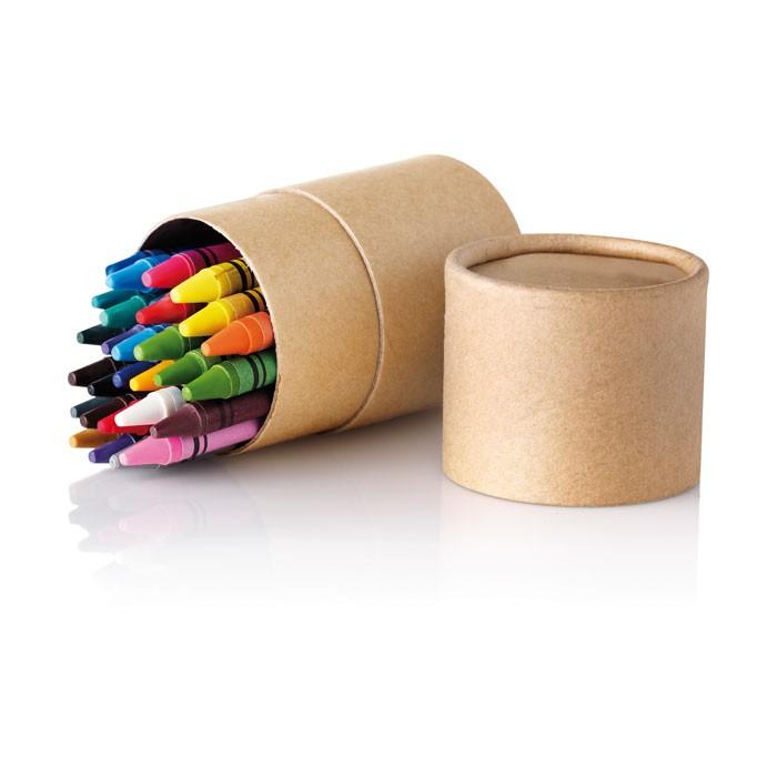 Cadeau publicitaire - Etui de 30 crayons de cire