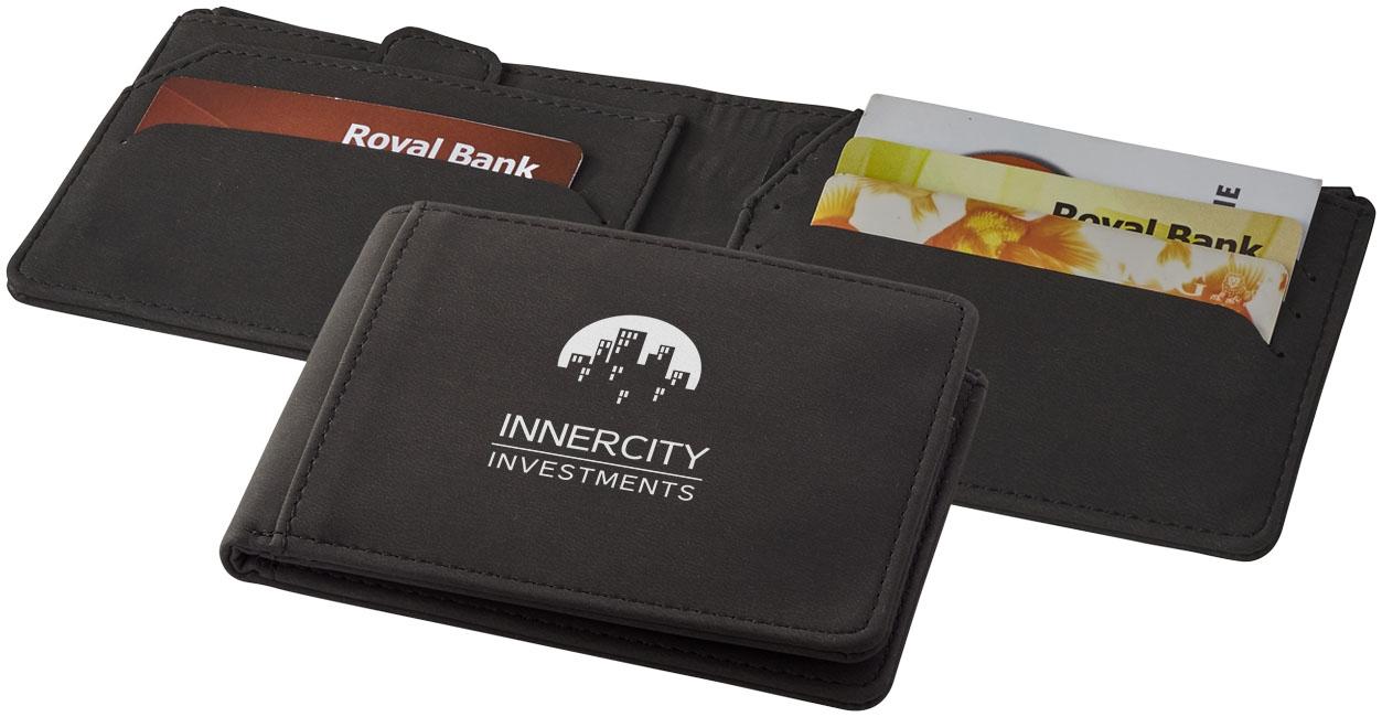 Cadeau publicitaire sécurité - Portefeuille personnalisé RFID Adventurer