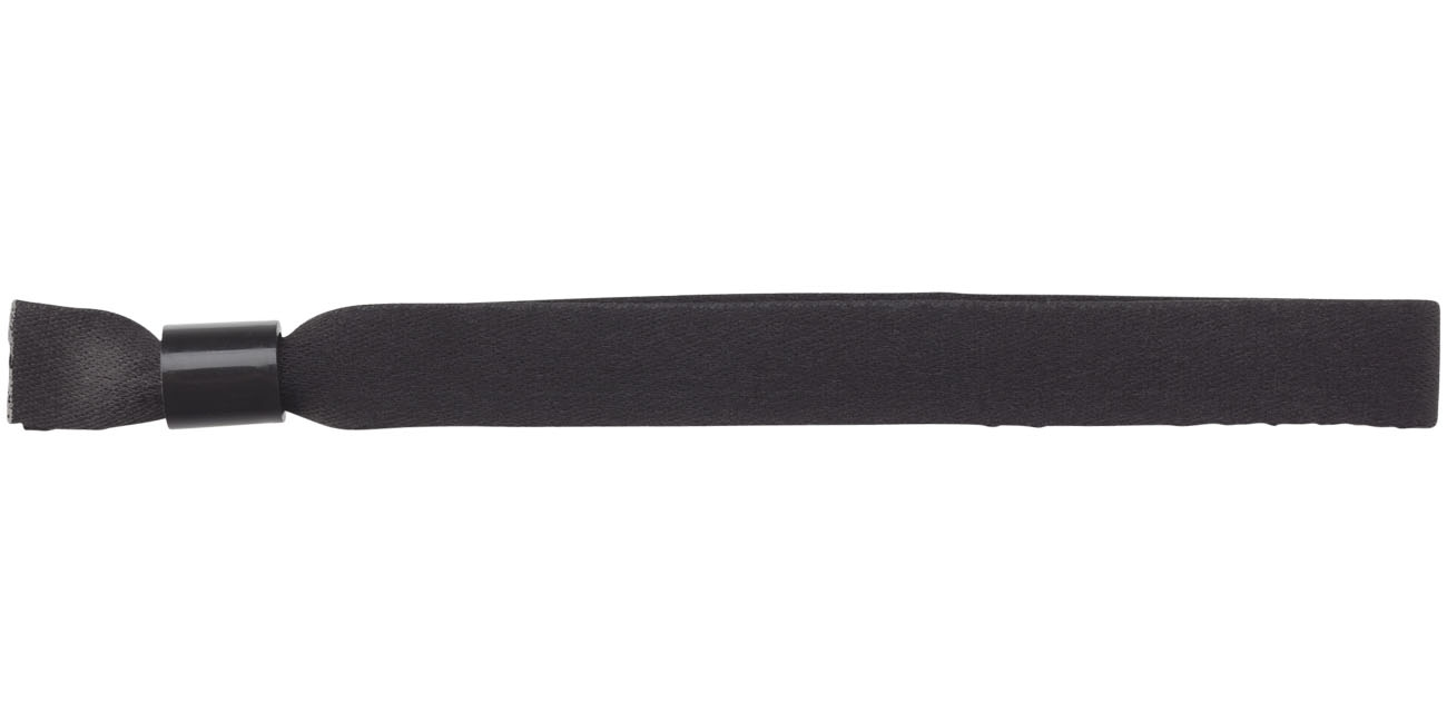 Objet publicitaire événementiel - bracelet publicitaire Taggy noir