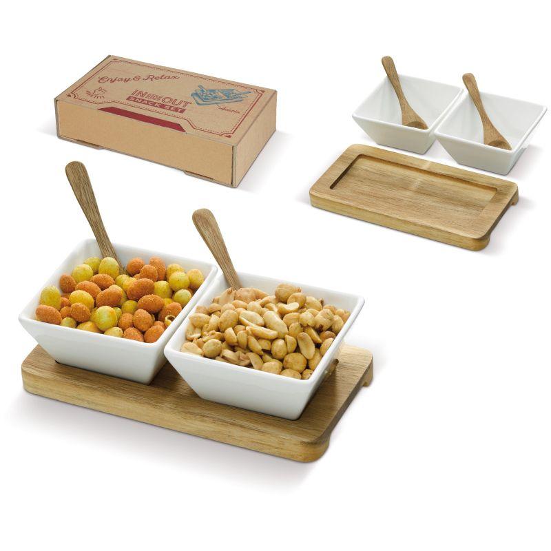 Cadeau d'entreprise écologique - Set 2 bols et planche en bois Bunchy