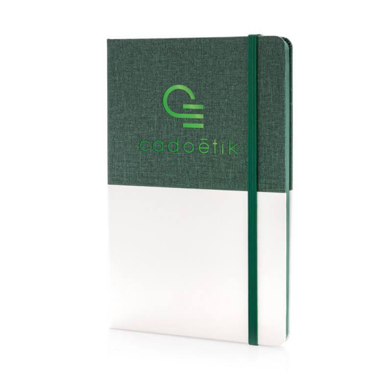 Carnet de notes A5 personnalisé Deluxe bi-matière