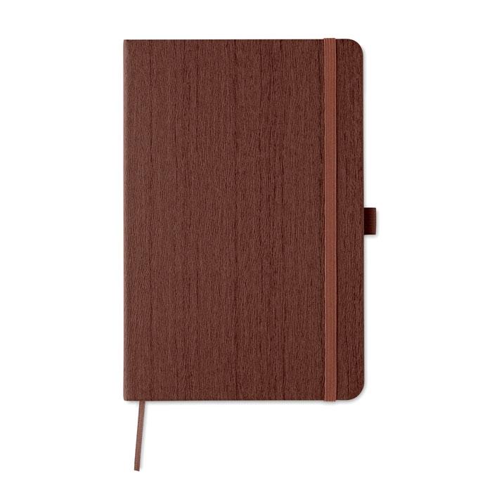 carnet A5 publicitaire Woody marron - cadeau client