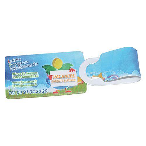 Etiquette à bagage publicitaire PVC Fly - objet publicitaire voyage