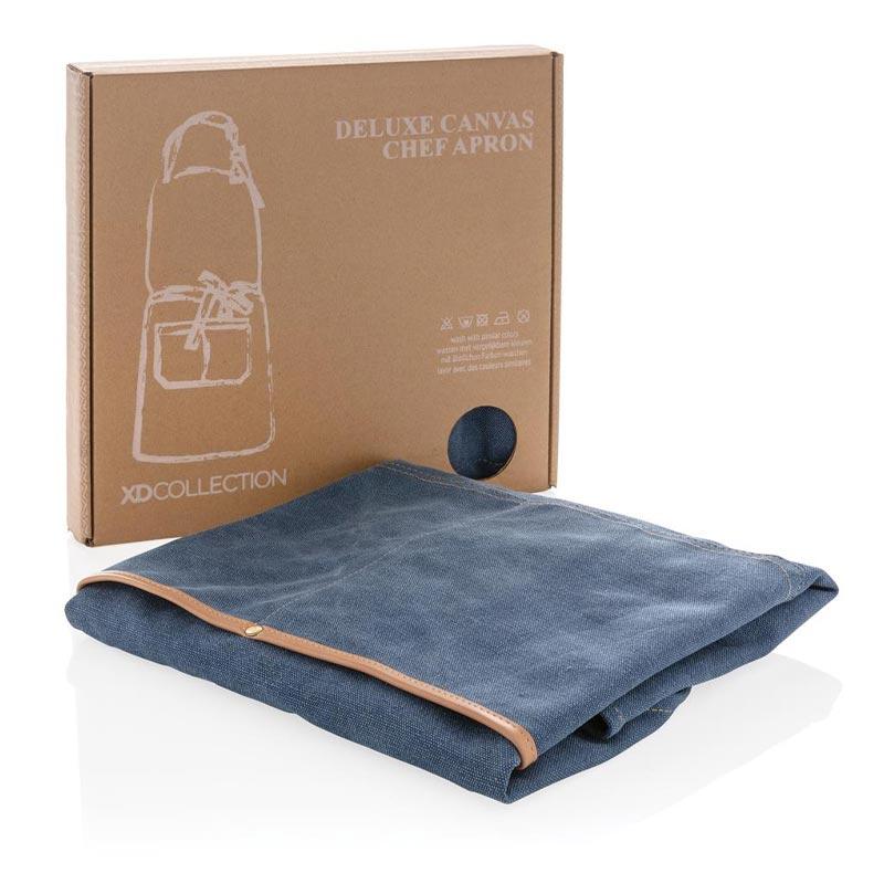 Cadeau entreprisre - Tablier en toile Deluxe bleu