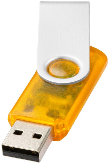 Clé USB publicitaire rotative translucide - cadeau publicitaire