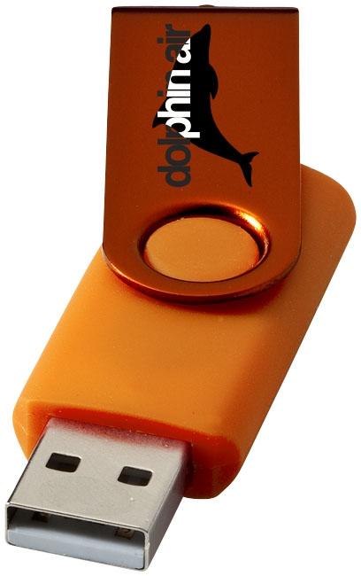 Clé USB publicitaire Métallique rotative - objet publicitaire