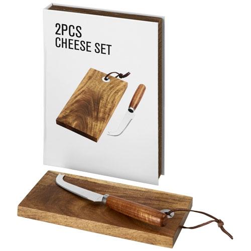 couteau à fromage publicitaire avec planche en bois Nantes - objet publicitaire écologique