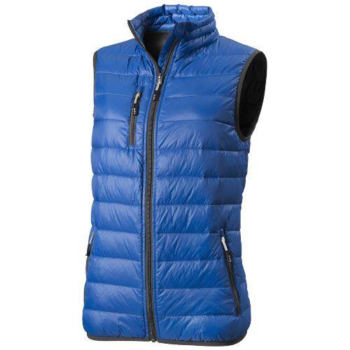 Bodywarmer personnalisé duvet léger femme Fairview - bleu