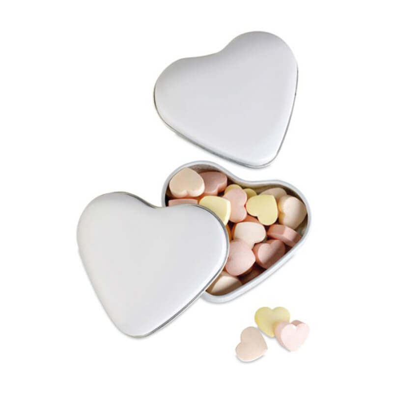 Boîte coeur personnalisable avec bonbons