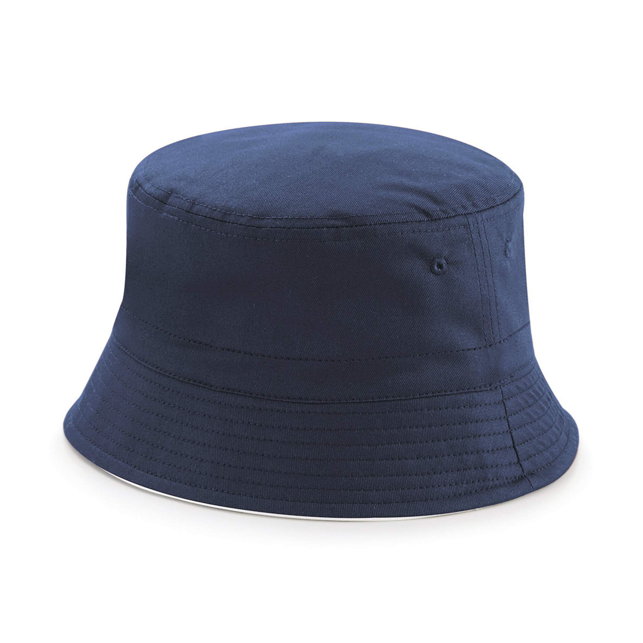 Chapeau publicitaire réversible Bucket french navy/blanc