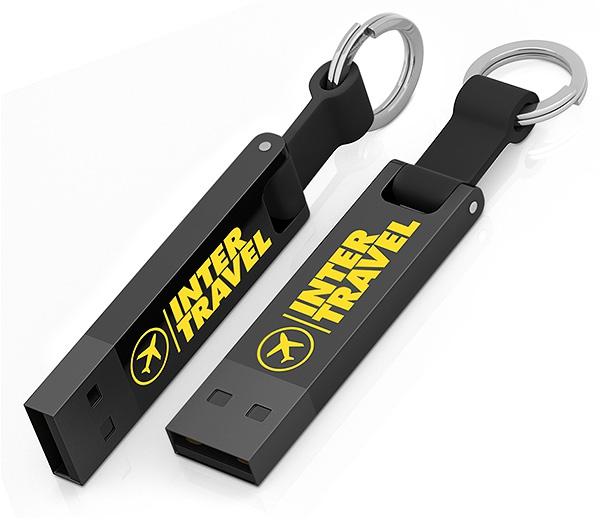 Clé USB publicitaire Iron Elegance C - Clé USB personnalisable - noir