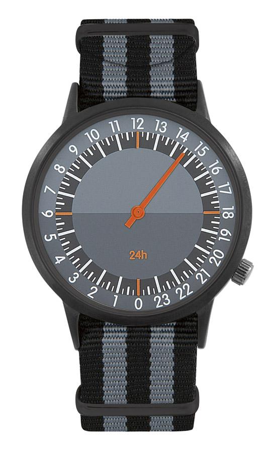 Montre publicitaire horloger 24h noir/gris - cadeau d'entreprise