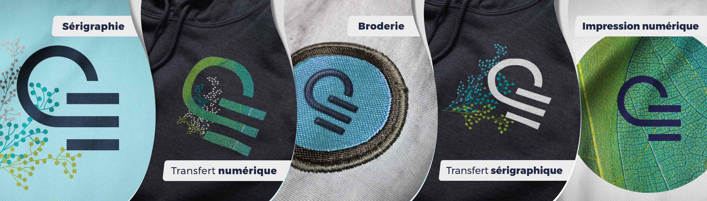 T-shirt personnalisable - Techniques de marquage