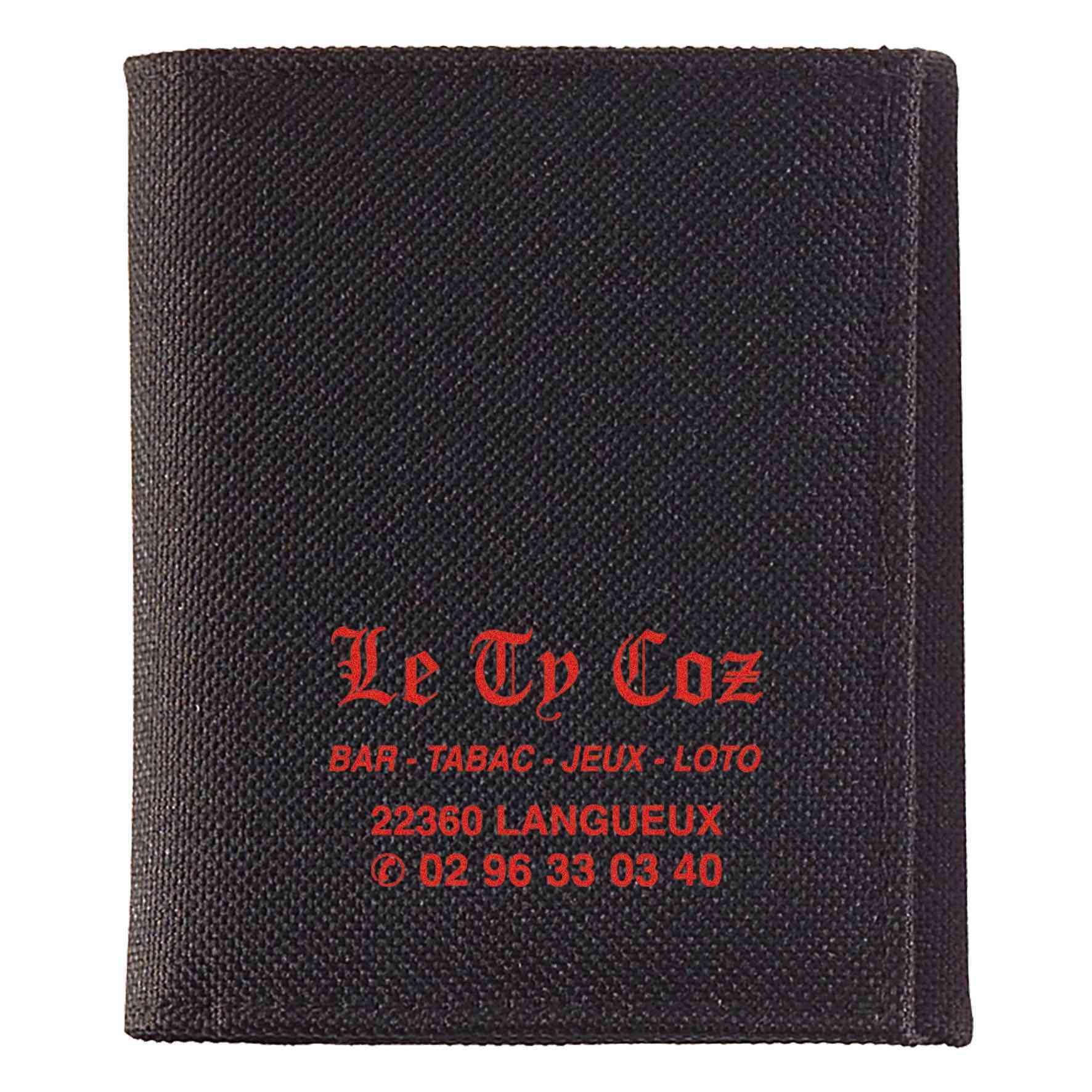 Goodies - Porte-Monnaie publicitaire multipoches Polyester - noir