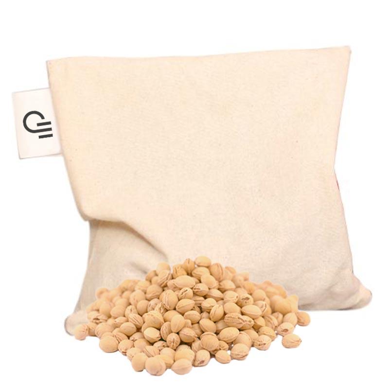 Coussin de cerise publicitaire en coton bio 1 compartiment - Intérieur