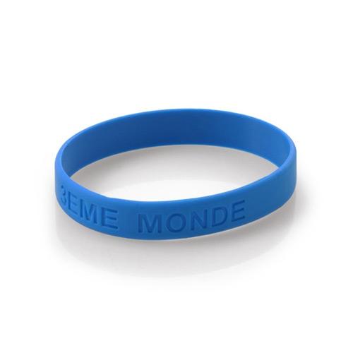 Bracelet publicitaire en silicone Classique bleu