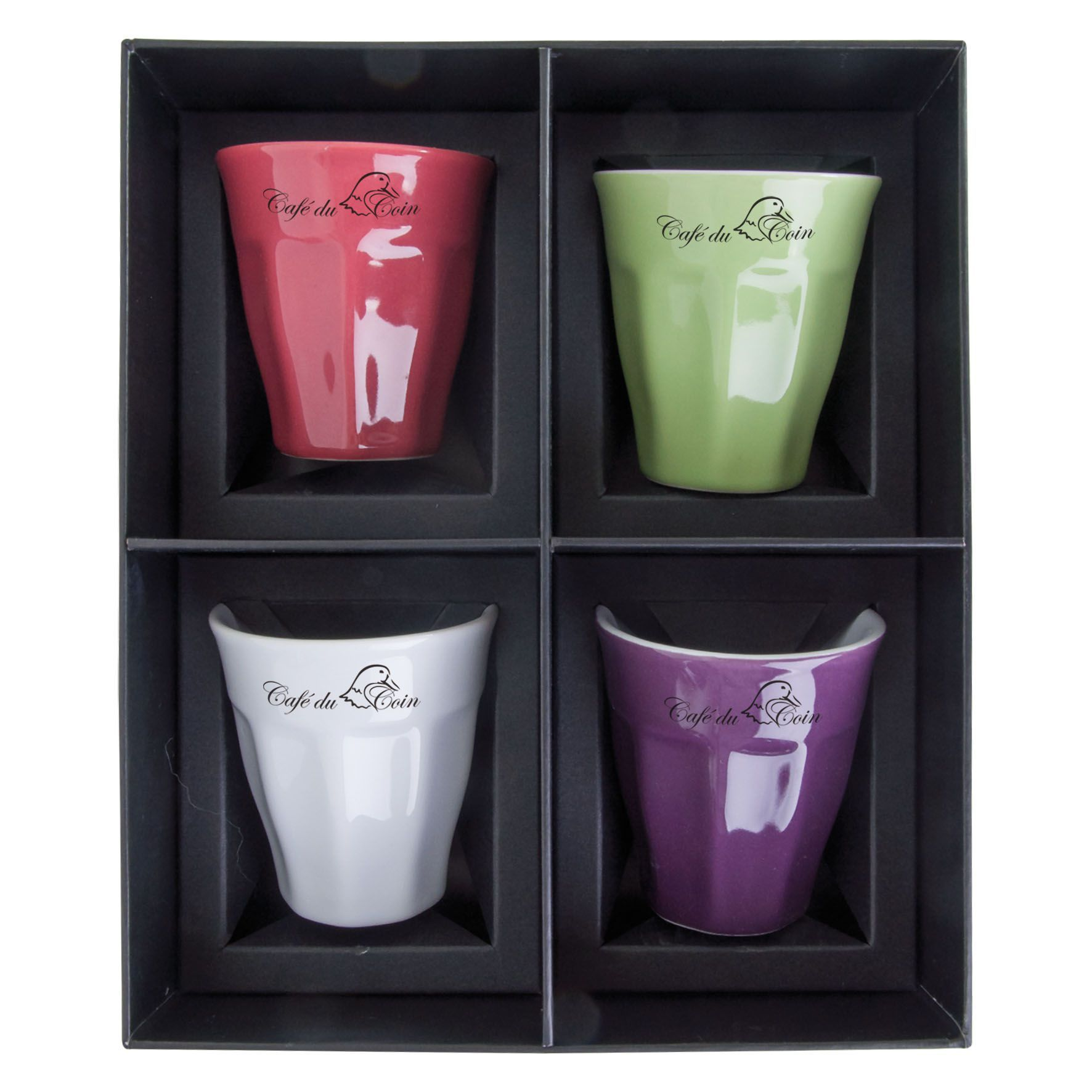 Cadeau d'entreprise - Set 4 Tasses Expresso 8cl Verrine