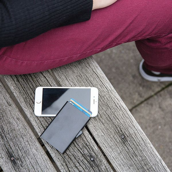 Porte-cartes personnalisé en aluminium anti-RFID C-Secure Trust - Cadeau d'entreprise