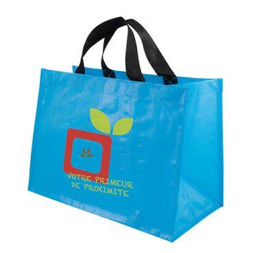 Sac shopping publicitaire PP tissé Horizon - Cadeau publicitaire - bleu